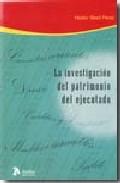 Portada de INVESTIGACION DEL PATRIMONIO DEL EJECUTADO