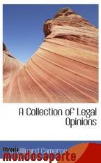 Portada de A COLLECTION OF LEGAL OPINIONS