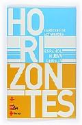 Portada de HORIZONTES ESPAÑOL NUEVA LENGUA ACTIVIDADES