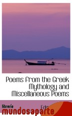 Portada de POEMS FROM THE GREEK MYTHOLOGY AND MISCELLANEOUS POEMS