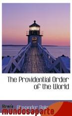 Portada de THE PROVIDENTIAL ORDER OF THE WORLD