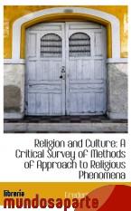 Portada de RELIGION AND CULTURE: A CRITICAL SURVEY OF METHODS OF APPROACH TO RELIGIOUS PHENOMENA