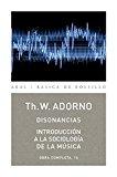 Portada de DISONANCIAS: INTRODUCCION A LA SOCIOLOGIA DE LA MUSICA