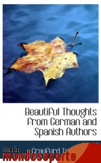 Portada de BEAUTIFUL THOUGHTS FROM GERMAN AND SPANISH AUTHORS