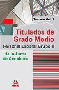 Portada de GRUPO II DE PERSONAL LABORAL DE LA JUNTA DE ANDALUCIA. TITULADOS DE GRADO MEDIO. TEMARIO