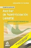 Portada de TEMARIO ESPECIFICO CUERPO AUXILIAR DE LA COMUNIDAD AUTONOMA DE EXTREMADURA. SIMULACROS DE EXAMEN