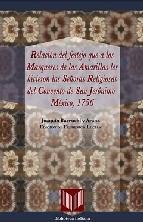 Portada de RELACION DEL FESTEJO QUE A LOS MARQUESES DE LAS AMARILLAS LES HICIERON LAS SEÑORAS RELIGIOSAS DEL CONVENTO DE SAN JERONIMO (MEXICO, 1756)
