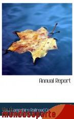 Portada de ANNUAL REPORT