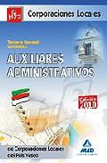 Portada de AUXILIARES ADMINISTRATIVOS DE CORPORACIONES LOCALES DEL PAIS VASCO. TEMARIO GENERAL. VOLUMEN II