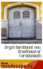 Portada de DRYCH BARDDONOL; NEU, DRAETHAWD AR FARDDONIAETH