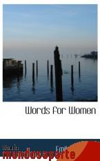 Portada de WORDS FOR WOMEN