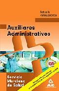 Portada de AUXILIARES ADMINISTRATIVOS DEL SERVICIO MURCIANO DE SALUD. TEST DE LA PARTE ESPECIFICA