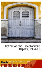 Portada de NARRATIVE AND MISCELLANEOUS PAPERS, VOLUME II