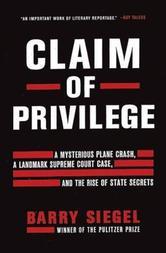 Portada de CLAIM OF PRIVILEGE