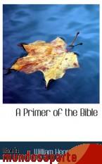Portada de A PRIMER OF THE BIBLE
