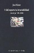 Portada de Y DEL ESPARTO LA INVARIABILIDAD