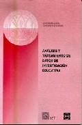 Portada de ANALISIS Y TRATAMIENTO DE DATOS DE INVESTIGACION EDUCATIVA