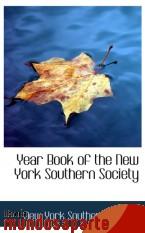 Portada de YEAR BOOK OF THE NEW YORK SOUTHERN SOCIETY