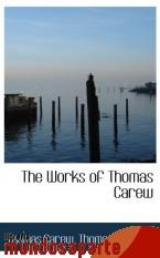 Portada de THE WORKS OF THOMAS CAREW