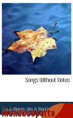 Portada de SONGS WITHOUT NOTES