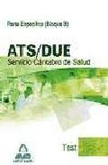 Portada de ATS/DUE DEL SERVICIO CANTABRO DE SALUD. TEST PARTE ESPECIFICA