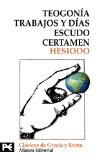 Portada de TEOGONIA; TRABAJOS Y DIAS; ESCUDO; CERTAMEN