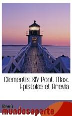 Portada de CLEMENTIS XIV PONT. MAX. EPISTOLÆ ET BREVIA