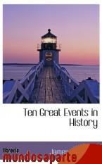 Portada de TEN GREAT EVENTS IN HISTORY