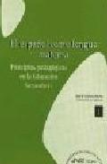 Portada de ESPAÑOL COMO LENGUA MATERNA: PRINCIPIOS PEDAGOGICOS EN LA EDUCACION SECUNDARIA Nº 1
