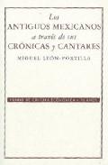 Portada de LOS ANTIGUOS MEXICANOS A TRAVES DE SUS CRONICAS Y CANTARES