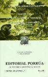 Portada de MACBETH; EL MERCADER DE VENECIA; LAS ALEGRES COMADRES DE WINDSOR;JULIO CESAR; LA TEMPESTAD