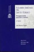 Portada de REGIMEN JURIDICO DEL GASTO PUBLICO