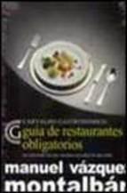 Portada de GUIA DE RESTAURANTES OBLIGATORIOS