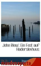Portada de JOHN RIEW`: EIN FEST AUF HADERSLEVHUUS