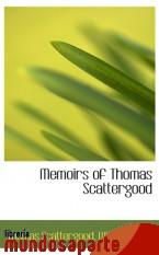 Portada de MEMOIRS OF THOMAS SCATTERGOOD
