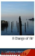 Portada de A CHANGE OF AIR