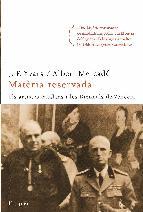 Portada de MATÈRIA RESERVADA (EBOOK)