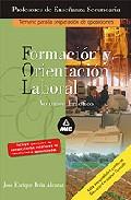 Portada de PROFESORES DE ENSEÑANZA SECUNDARIA. FORMACION Y ORIENTACION LABORAL VOLUMEN PRACTICO