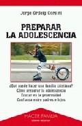 Portada de PREPARAR LA ADOLESCENCIA