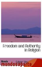 Portada de FREEDOM AND AUTHORITY IN RELIGION