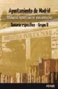 Portada de TECNICOS AUXILIARES DE BIBLIOTECAS DEL AYUNTAMIENTO DE MADRID: TEMARIO ESPECIFICO