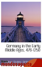 Portada de GERMANY IN THE EARLY MIDDLE AGES, 476-1250