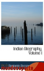 Portada de INDIAN BIOGRAPHY, VOLUME  I