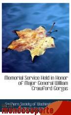 Portada de MEMORIAL SERVICE HELD IN HONOR OF MAJOR GENERAL WILLIAM CRAWFORD GORGAS