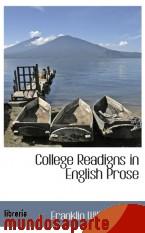 Portada de COLLEGE READIGNS IN ENGLISH PROSE