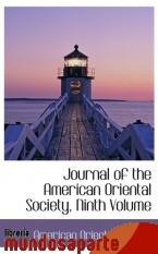 Portada de JOURNAL OF THE AMERICAN ORIENTAL SOCIETY, NINTH VOLUME