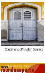 Portada de SPECIMENS OF ENGLISH SONNETS