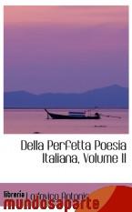 Portada de DELLA PERFETTA POESIA ITALIANA, VOLUME II
