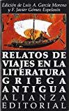 Portada de RELATOS DE VIAJES EN LA LITERATURA GRIEGA ANTIGUA