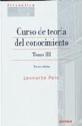 Portada de CURSO DE TEORIA DEL CONOCIMIENTO T.III 3ªED